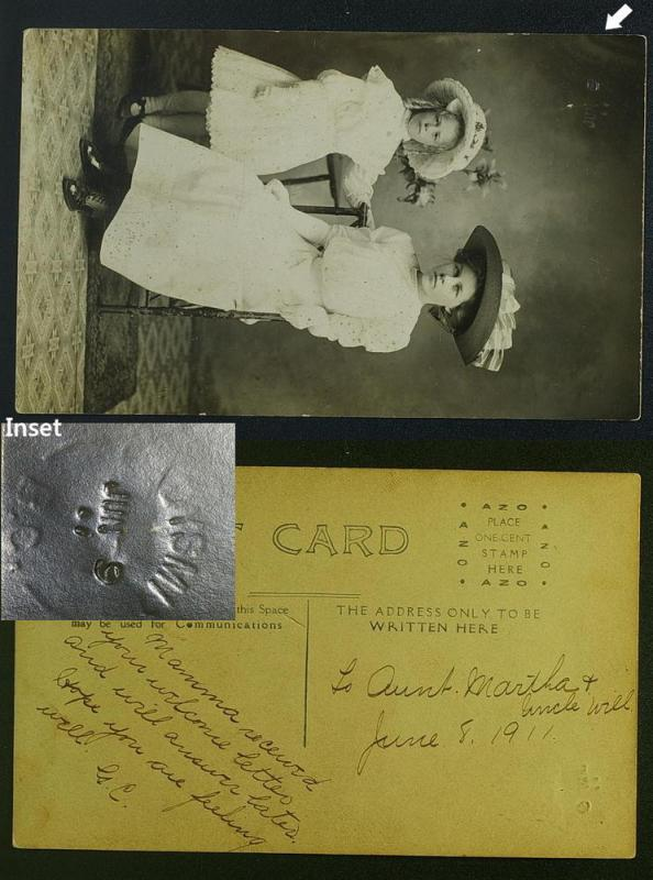 Ladysmith BC private photo with pmk impression RPPC  1911