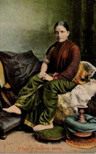 A Type Of Canarese Beauty In Typical Costume