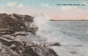 BRANFORD, Connecticut, PU-1915; Surf At Indian Neck
