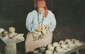 CHEROKEE, North Carolina, 1940-60s; Oconaluftee Indian Village, Pottery Maker