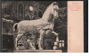 PADOVA, Veneto, Italy; Palazzo della Ragione, Cavallo in legno, (Donatello) 0...