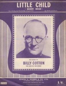Little Child Billy Cotton 1950s Sheet Music