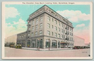 Marshfield Oregon~Coos Bays~The Chandler Hotel Block~Fire Escapes~1920s Cars