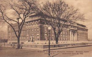 Soldiers And Sailors Memorial Hospital Masonic Home Utca New York Albertype