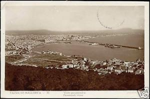 spain, PALMA DE MALLORCA, Panoramic View (1933) RPPC