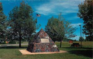 Jackson Monument Negaunee Michigan MI Iron Ore First discovered Postcard