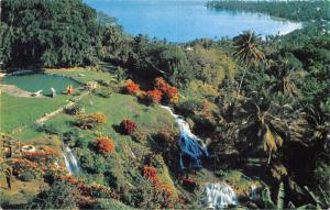 USA Jamaica Tropical Gardens Waterfall