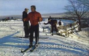 Mount Royal, Montreal, Canada Ski, Skiing Postcard Post Card Old Vintage Anti...