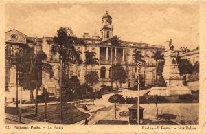 Portugal Porto Le Palais Palace Statue Monument Postcard