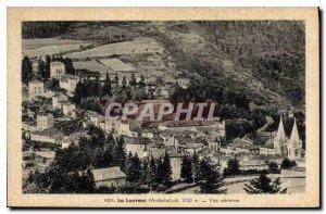 Old Postcard Louvesc Ardeche Aerienne view
