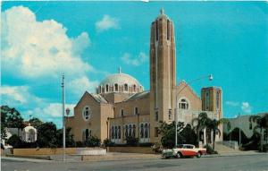 Tarpon Springs Florida~St Nicholas Greek Orthodox Church~NICE Two-Tone 1957 Car