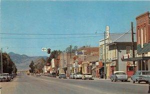 F48/ Whitehall Montana Postcard Chrome Main Street Stores