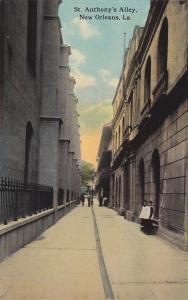 NEW ORLEANS, Louisiana, 1900-1910's; St. Anthony's Alley