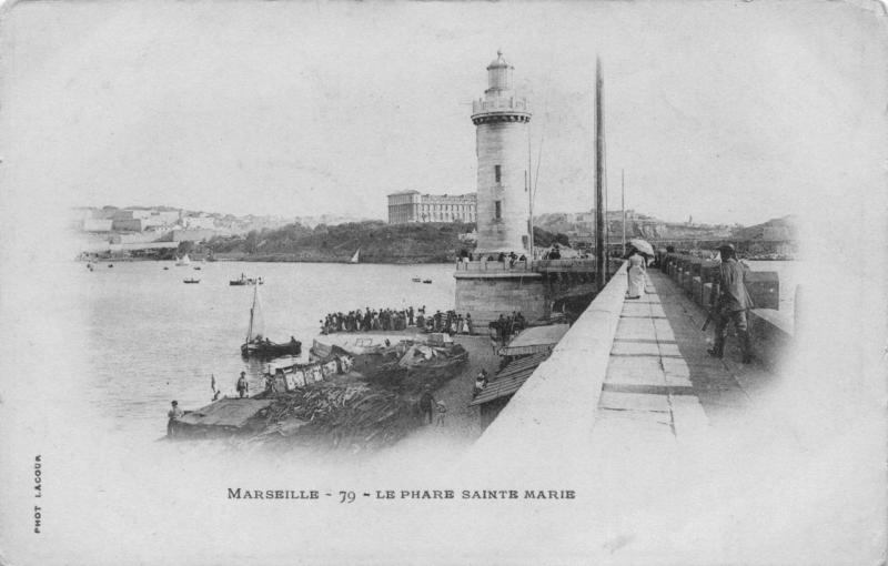 Vintage Postcard MARSEILLE Le Phare Sainte Marie Lighthouse FRANCE