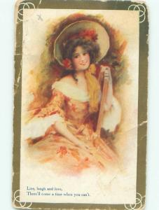 Divided-Back PRETTY WOMAN Risque Interest Postcard AA8322