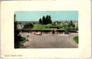 PAYETTE, ID Idaho    View of DEPOT   TRAIN    c1910s  Postcard