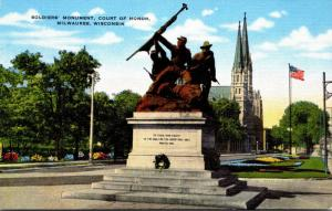 Wisconsin Milwaukee Court Of Honor Soldiers' Monument 1949