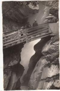 Switzerland, Lauterbrunnen, Blick in die Schlucht des Trummelbaches, unused RPPC