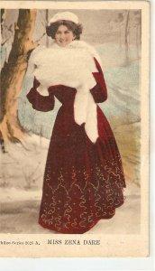 Miss. Zena Dare. Stage Artist Nice old vintage English postcard