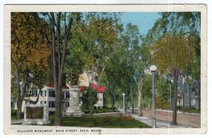 Saco, Maine, Soldiers Monument, Main Street