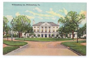 Williamsburg Inn VA Curteich Linen 1938 Mint Postcard