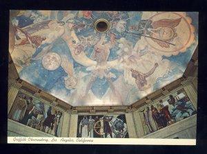 Los Angeles, California/CA Postcard, Griffith Observatory Murals, Near Mint!