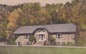 The Museum Letchworth State Park P O Castle New York Handcolored Albertype 1954