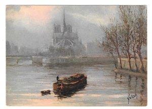 Paris En Flanant Abside Notre Dame Cathedral France 4X6 YVON Art Postcard