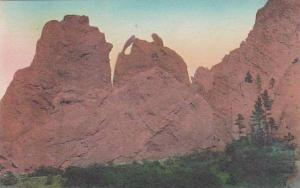 Colorado Colorado Spring Dear And Garden Of The Gods Albertype