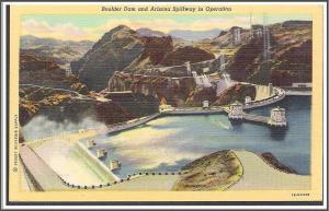 Nevada Boulder Dam Postcard