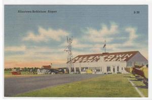 Allentown Bethlehem Airport Planes Pennsylvania linen postcard