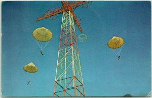 FORT BENNING Georgia Postcard 250 Foot Free Tower Chrome / 1972 Cancel