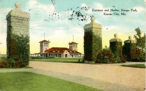 MO - Kansas City. Swope Park Entrance and Shelter