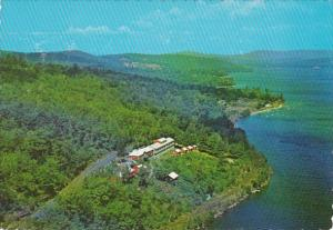 New Hampshire Lake Wiinipesaukee Aerial View Look Off Rock Motel and Cottages