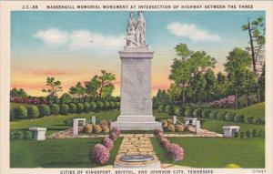 Tennessee Johnson City Massengill Memorial Monument At Intersecton Of Highway...