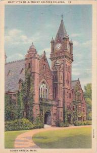 Massachusetts South Hadley Mary Lyon Hall Mount Holyorke College