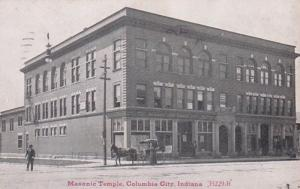 Indiana Columbia City Masonic Temple 1938