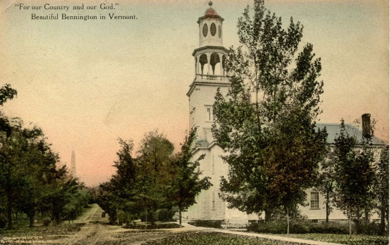 VT - Bennington. Old First Church and Monument Avenue