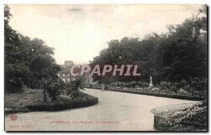 Old Postcard Luneville Les Bosquets La Grande Allee