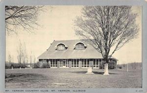 Mt Vernon Illinois Country Club Street View Antique Postcard K55282