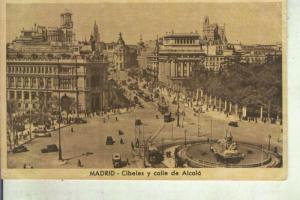 Postal 013317: Cibeles y calle de Alcala en Madrid