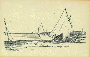 Blakeney Quay Harbour Boats Postcard