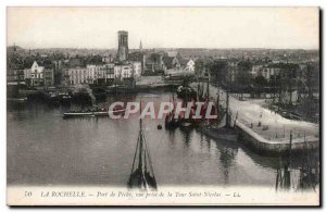 Old Postcard La Rochelle Fishing Port View from the Saint Nicolas tower