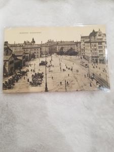 Antique Postcard, Munchen - Bahnhofsplatz