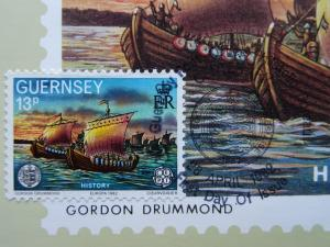 Guernsey First Day of Issue HISTORY 3-B 1982 Stamp & Postcard