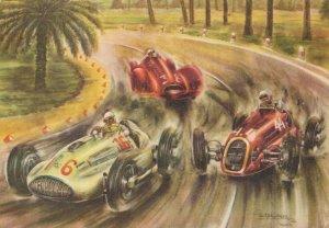 Artist Signed Piet Olyslager Mercedes Alfa Romeo Tripollis 1939 BS.02