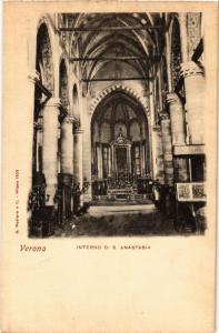 CPA VERONA Interno S.Anastasia . ITALY (448617)
