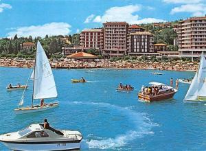 Slovenia Portoroz Beach Playa Boats Hotel