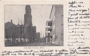 LEWISTON, Maine; City Hall, PU-1906