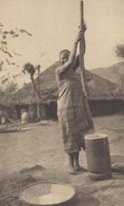 Uganda Matoki Ugandan Mast Tribe Weapons Antique Photo Postcard